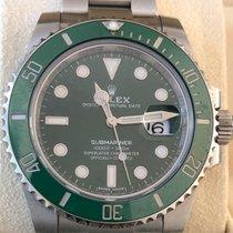Rolex Submariner Date Сталь 40mm Зеленый Без цифр