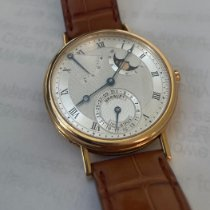 Breguet Yellow gold Automatic Silver Roman numerals 36.5mm pre-owned Classique