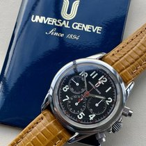 Universal Genève Compax new 1995 Manual winding Chronograph Watch with original box and original papers