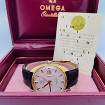 Omega Seamaster Yellow gold 35mm Silver No numerals United States of America, New York, east hampton
