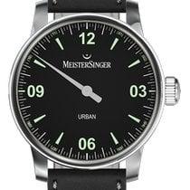 Meistersinger Urban Steel 40mm Black Arabic numerals
