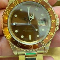 Rolex (ロレックス) GMT マスター II イエローゴールド 40mm ブラウン 文字盤無し