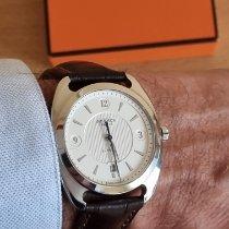 Hermès Dressage Steel 40,5mm Silver