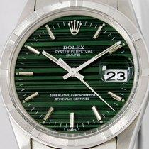 Rolex Oyster Perpetual Date Steel 34mm Green No numerals United States of America, Utah, Draper