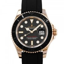 Rolex Red gold Automatic Black 40mm pre-owned Yacht-Master 40