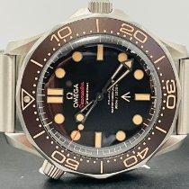 Omega Seamaster Diver 300 M Titan 42mm Schwarz Keine Ziffern