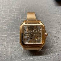 Cartier Santos (submodel) Aur roz 39.8 mmmm Transparent Roman