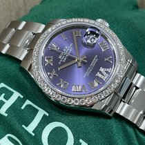 Rolex Datejust 31 Steel 31mm Purple Roman numerals United States of America, New York, New York