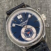 Patek Philippe Platinum Automatic Blue No numerals 40.5mm pre-owned Annual Calendar Chronograph