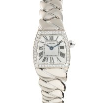 Cartier White gold Quartz Silver 18mm pre-owned La Dona de Cartier