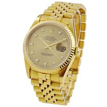 Rolex Yellow gold Automatic Gold 36mm pre-owned Datejust