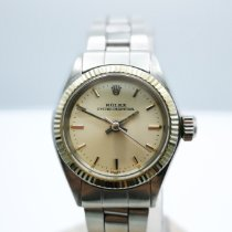 Rolex White gold Automatic Silver No numerals pre-owned Oyster Perpetual