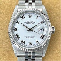 Rolex Datejust Stal 36mm Biały Rzymskie