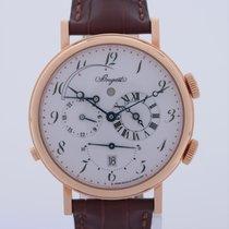 브레게 옐로우골드 40mm 자동 GMT 중고시계