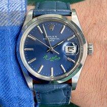 Rolex Oyster Perpetual Date Stahl 34mm Blau Keine Ziffern Schweiz, Biel/Bienne