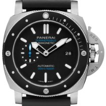 Panerai Luminor Submersible 1950 3 Days Automatic Титан 47mm Черный Без цифр