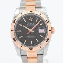 Rolex Datejust Turn-O-Graph Acciaio 36mm Nero Senza numeri