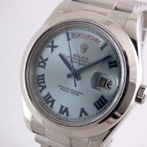 Rolex Day-Date II Platin 41mm Blau