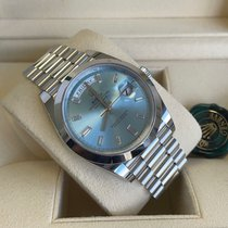 Rolex Day-Date 40 Platinum 40mm Blue Roman numerals United Kingdom, Gateshead