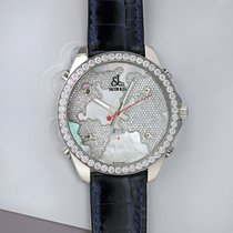 Jacob & Co. Five Time Zone Steel 47mm Mother of pearl United States of America, New York, Airmont