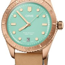 Oris Bronze Automatic Green 38mm new Divers Sixty Five