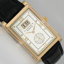 A. Lange & Söhne Red gold Manual winding Silver (solid) Roman numerals 25.6mm pre-owned Cabaret
