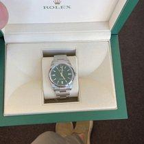 Rolex Oyster Perpetual 36 Acier 36mm Vert Sans chiffres Belgique, hasselt