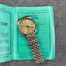 Rolex Oyster Perpetual Date Gold/Steel 34mm Gold No numerals