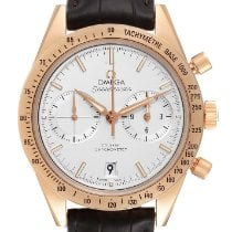 Omega Rose gold Automatic Silver 41.5mm pre-owned Speedmaster '57