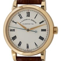A. Lange & Söhne Richard Lange Yellow gold 40mm Silver Roman numerals United States of America, Texas, Austin