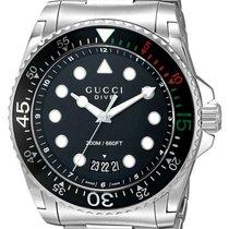 Gucci Dive YA136208 New Steel 45mm Quartz
