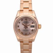 Rolex Pозовое золото Автоподзавод Розовый Римские 26mm подержанные Lady-Datejust