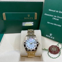 Rolex Lady-Datejust Pearlmaster Or jaune 33mm Nacre Romains