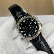 Blancpain Léman Réveil GMT Сталь 40mm Черный Aрабские