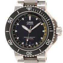 Oris Aquis Depth Gauge Steel Black