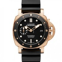 Panerai Red gold Automatic Black No numerals 42mm new Luminor Submersible 1950 3 Days Automatic
