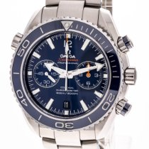 Omega Seamaster Planet Ocean Chronograph Titanyum 45,5mm Mavi Rakamsız