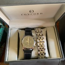 Concord Impresario pre-owned 38mm Black Chronograph Date Weekday Month Steel