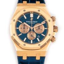 Audemars Piguet Royal Oak Chronograph Rose gold 41mm Blue No numerals United States of America, Florida, Hollywood