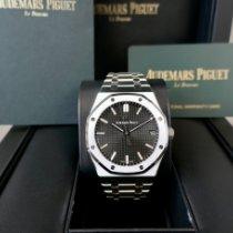 Audemars Piguet Royal Oak Steel 41mm Black No numerals
