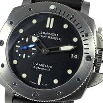 Panerai Luminor Submersible 1950 3 Days Automatic Сталь 42mm Черный Без цифр