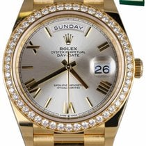 Rolex Yellow gold Automatic White 40mm new Day-Date 40