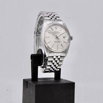 Rolex Datejust tweedehands 36mm Zilver Datum Staal