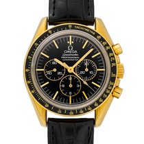 Omega Yellow gold Manual winding Black pre-owned Speedmaster
