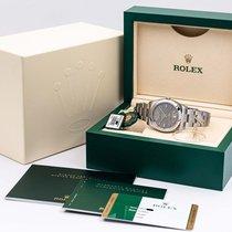 Rolex Oyster Perpetual 36 Stål 36mm Grå Ingen tal