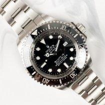 Rolex Sea-Dweller Deepsea Acier 44mm Noir Sans chiffres