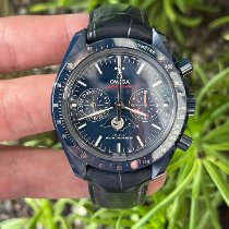 Omega Speedmaster Professional Moonwatch Moonphase pre-owned Blue Moon phase Chronograph Date Tachymeter Leather