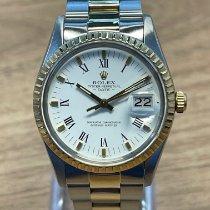 Rolex Oyster Perpetual Date Acero y oro 34mm Blanco Sin cifras España, Madrid