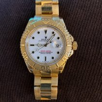 Rolex Yellow gold Automatic White No numerals 40mm pre-owned Yacht-Master