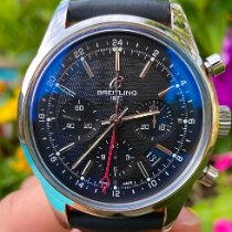 Breitling Transocean Chronograph GMT Сталь 43mm Черный Без цифр
